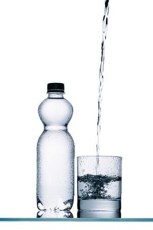 plastic bottles of water Stok Fotoğraf