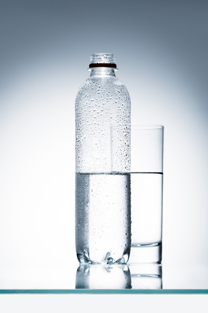plastic bottle of water Standard-Bild
