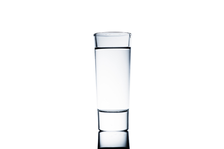drinking glass of clean water isolated
