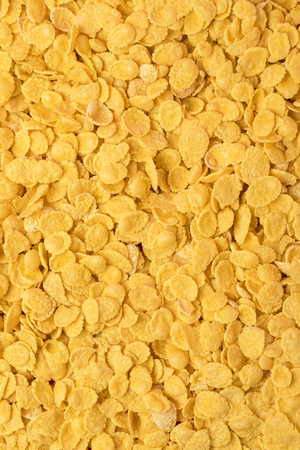 frame background from delicious crunchy corn flakes
