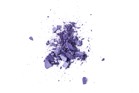 crushed purple cosmetic eye shadows