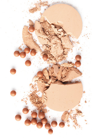 crushed nude cosmetic powder