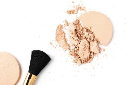 cracked cosmetic powder