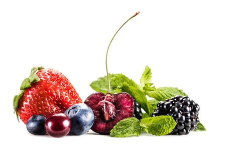 assorted berries and mint leaves