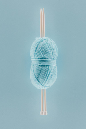 knitting yarn ball with knitting needles Stock fotó