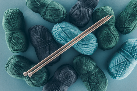 knitting yarn with knitting needles Stok Fotoğraf