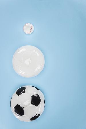 野球、サッカー、バレーボール、バスケットボール用ボール 写真素材