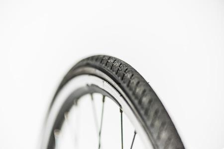 bicycle wheel with rim, tire and spokes Zdjęcie Seryjne