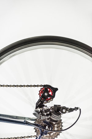 bicycle gears and wheel in motion