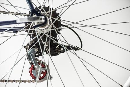 engrenages de vélo et les rayons