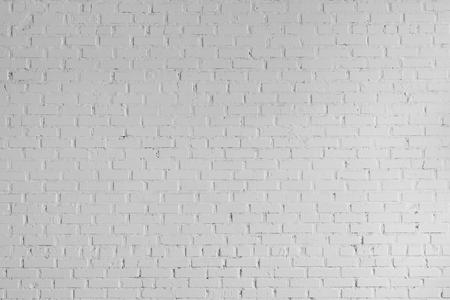 full frame of white grunge textured brick wall background