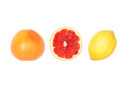 samenstelling van grapefruits en citroen