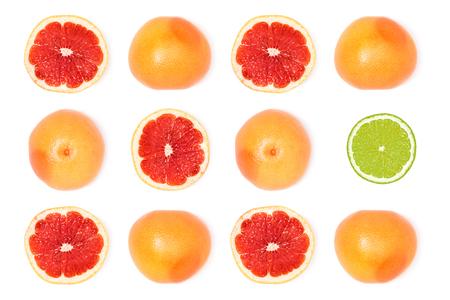 samenstelling van verse rijpe grapefruits Stockfoto