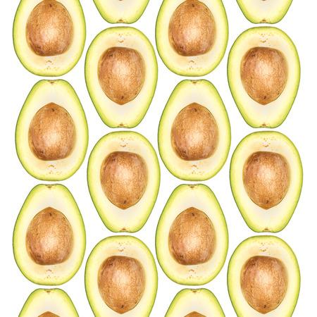 naadloze patroon van avocado's
