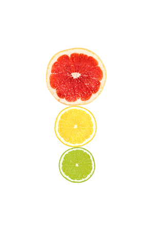 verse plakjes citrusvruchten
