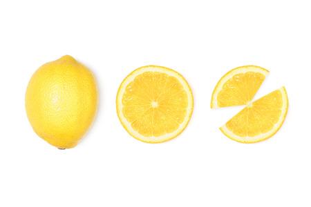 신선한 레몬 슬라이스
