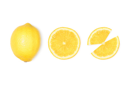 fresh lemon with slices Banco de Imagens