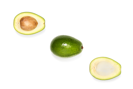 composition of fresh ripe avocados