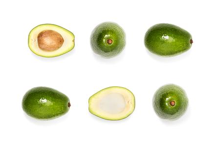 samenstelling van verse rijpe avocado's Stockfoto