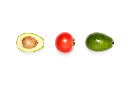 compsition of tomato and avocados