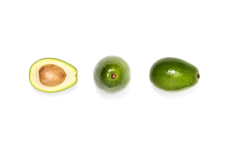 compotsition of fresh avocados