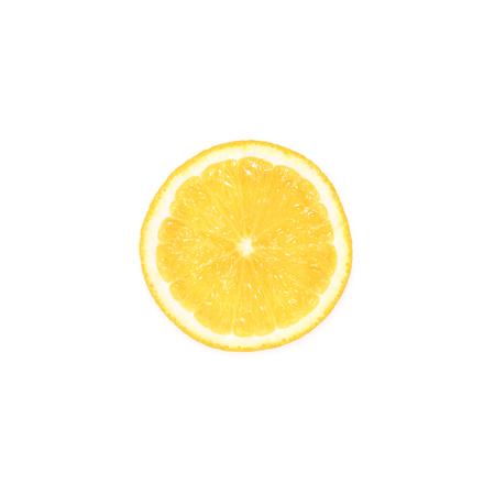 slice of fresh lemon