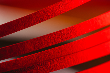 red quilling striped paper Stock Photo - 94485515