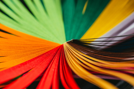 colored bright quilling striped paper