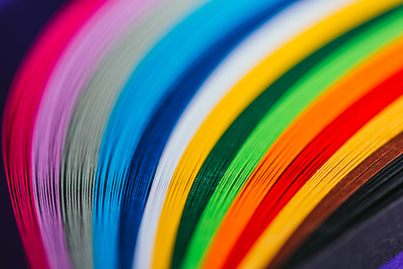 colored bright quilling paper stripes Stock Photo