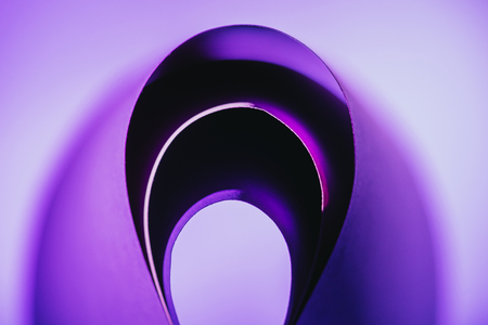 arcs of warping purple paper