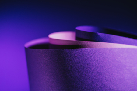 close up view of arcs of purple and pink paper Reklamní fotografie