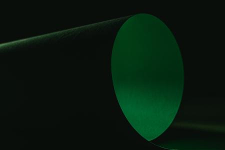 green warping paper for decoration on black  Stock fotó