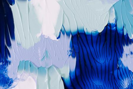 抽象的な青、灰色および白の絵画の背景