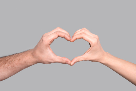 heart sign of hands Stock Photo