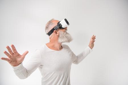 man with virtual reality headset Reklamní fotografie