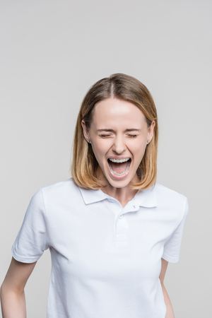 stressed screaming woman