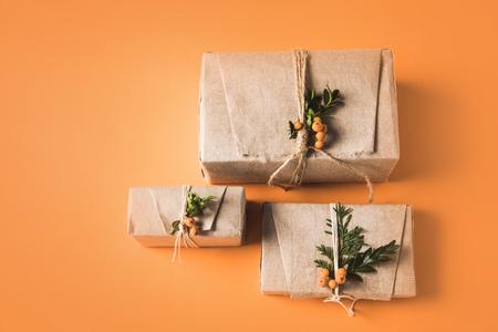 3つのクリスマスプレゼントボックス 写真素材 - 94761254