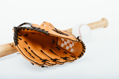 baseball equipment and mitt Stock Photo