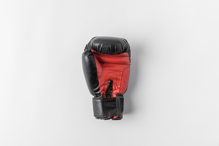 boxing glove on white surface Archivio Fotografico