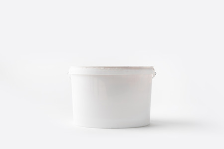 one plastic bucket with paint