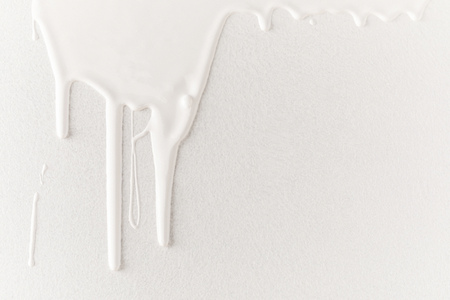 white dripping paint