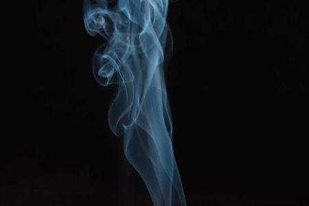 blue and white smoke Stockfoto