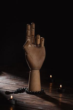 hand with prana mudra gesture Stock Photo