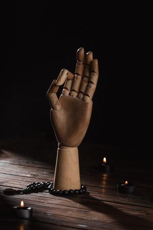 Main avec le geste de mudra mudra Banque d'images - 95170508