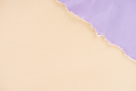 close-up shot of beige and lilac papers texture for background Stock Photo