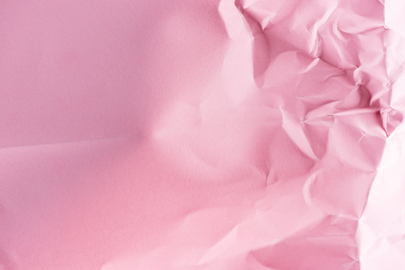 close-up shot of crumpled pink paper for background Фото со стока - 95330800
