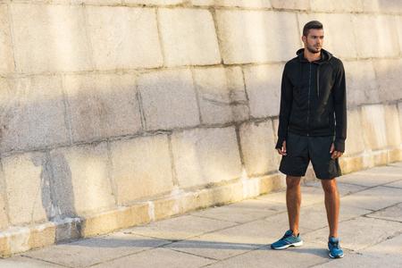 athletic sportsman in sportswear
