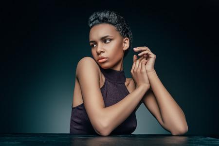 sensual african american woman Stockfoto