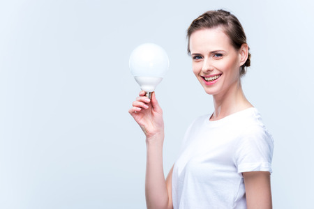 woman with light bulb