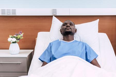 african american man in hospital